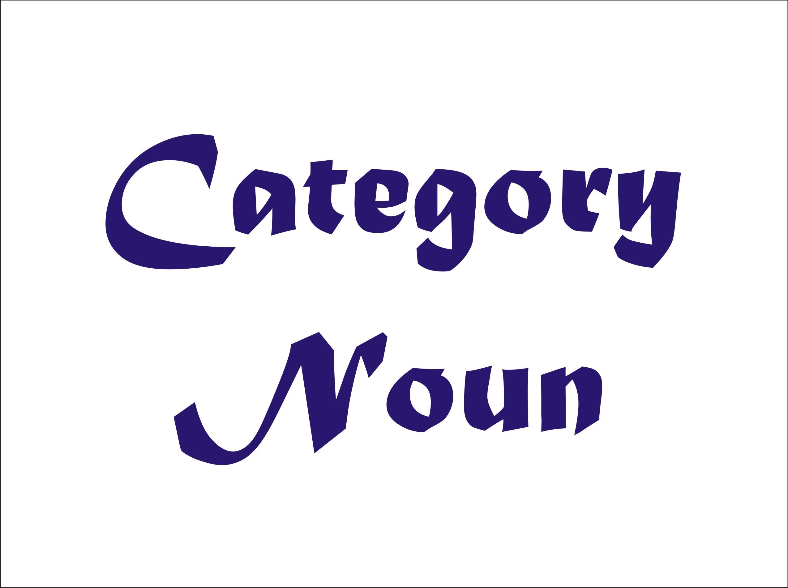 Category Noun