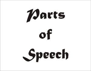 Pengertian Parts of speech