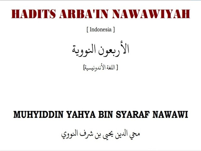 Download Kitab Hadits Arbain Pdf
