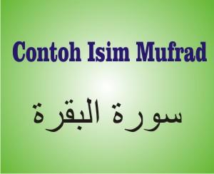 Contoh Isim Mufrad Dalam Al-Quran