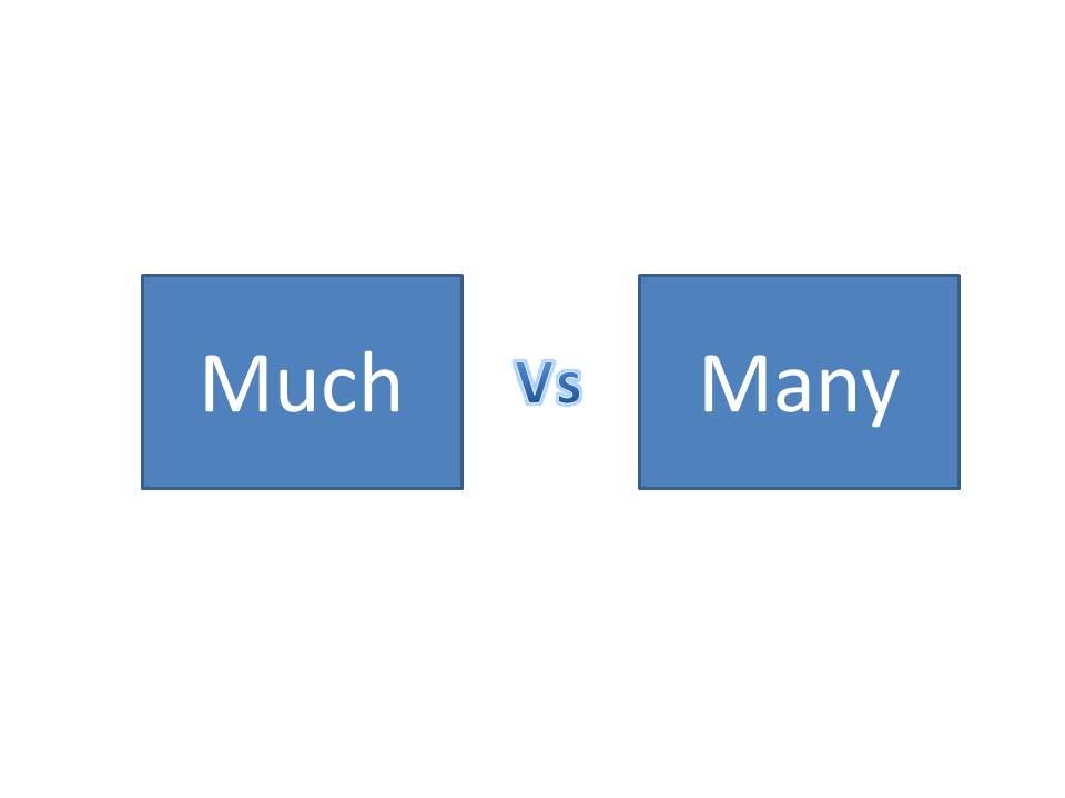 Penggunaan Much dan Many Dalam Persaman Dan Perbedaannya