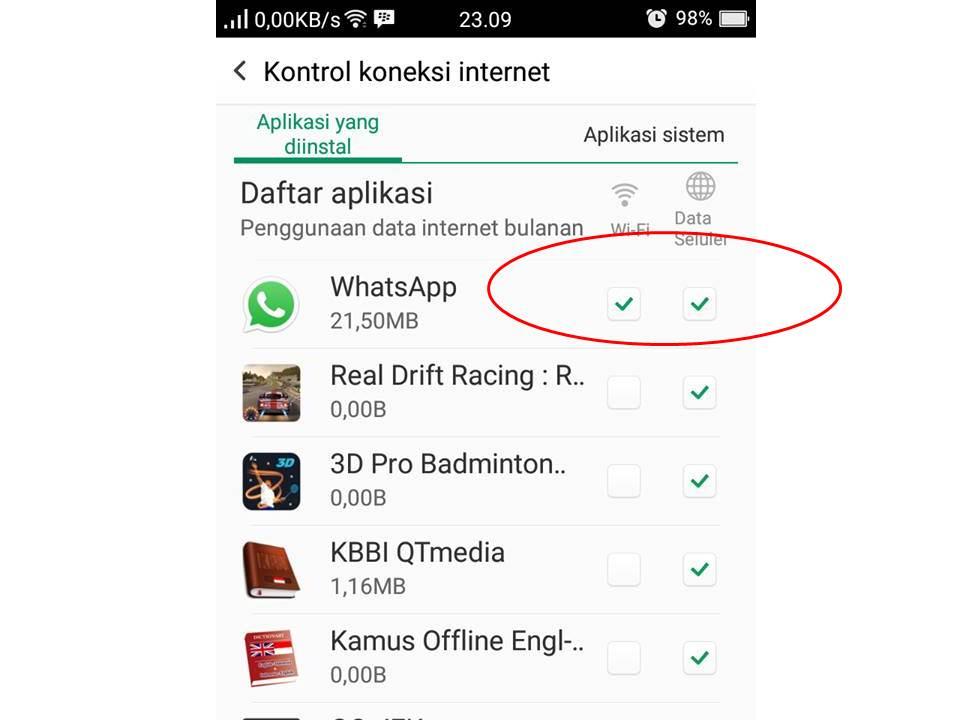 Whatsapp Tidak Bisa Konek Dengan Wifi