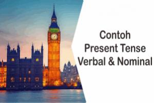 Contoh Kalimat Simple Present Tense Verbal Dan Nominal