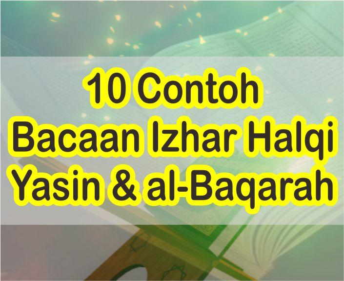10 Contoh Bacaan Izhar Halqi Dalam Surah Al Baqarah dan Yasin Beserta Alasannya