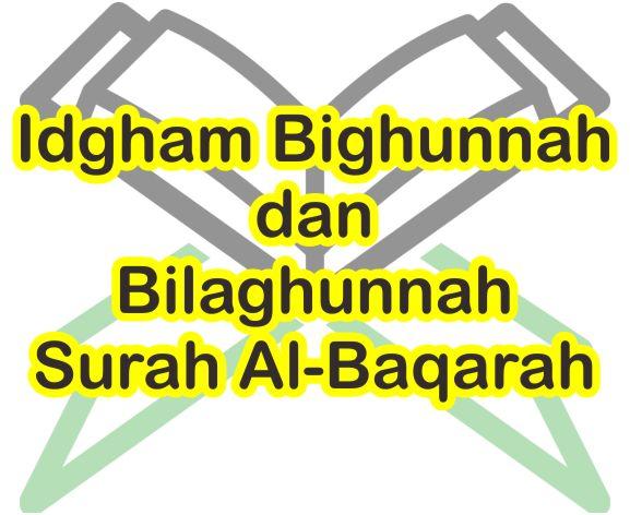 20 Contoh Bacaan Idgham Bighunnah Dan Bilaghunnah Dalam Surah Al Baqarah