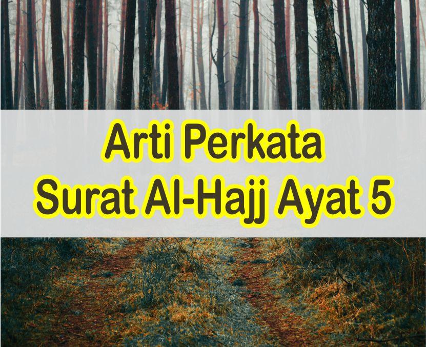 Arti Perkata Surat Al Hajj Ayat 5 Tentang Penciptaan Manusia