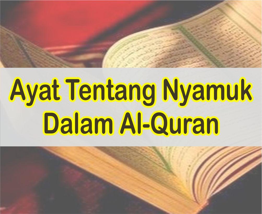 Ayat Tentang Perumpamaan Nyamuk Dalam Al-Quran dan Artinya Perkata