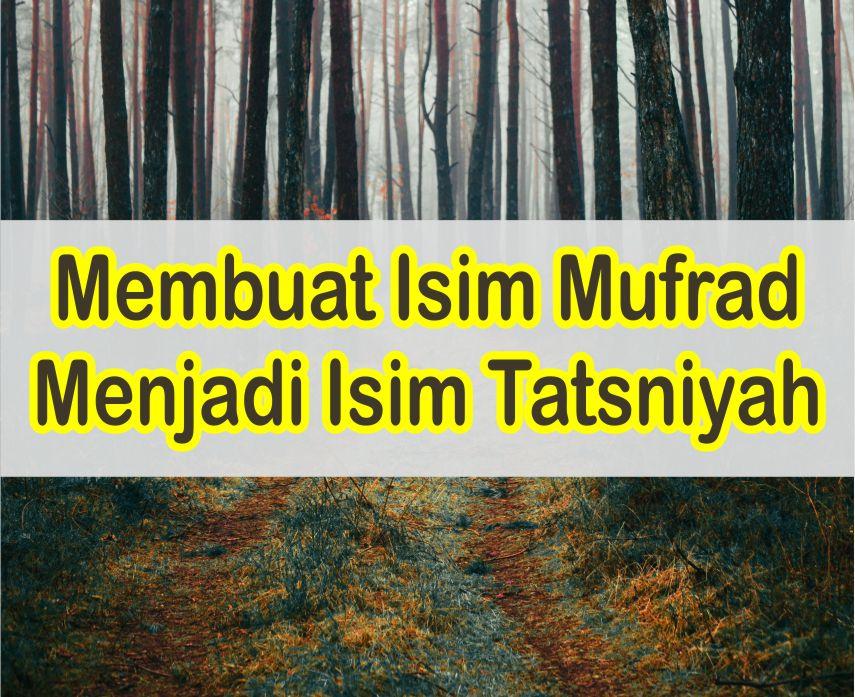 Cara Mengubah Isim Mufrad Ke Isim Tatsniyah Dalam Kaidah Nahwu Bahasa Arab