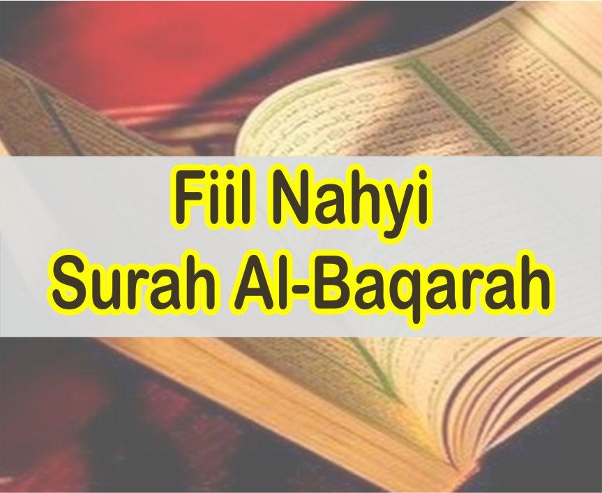 Kumpulan 38 Fiil Nahyi Dalam Al-Quran Surah Al-Baqarah Lengkap