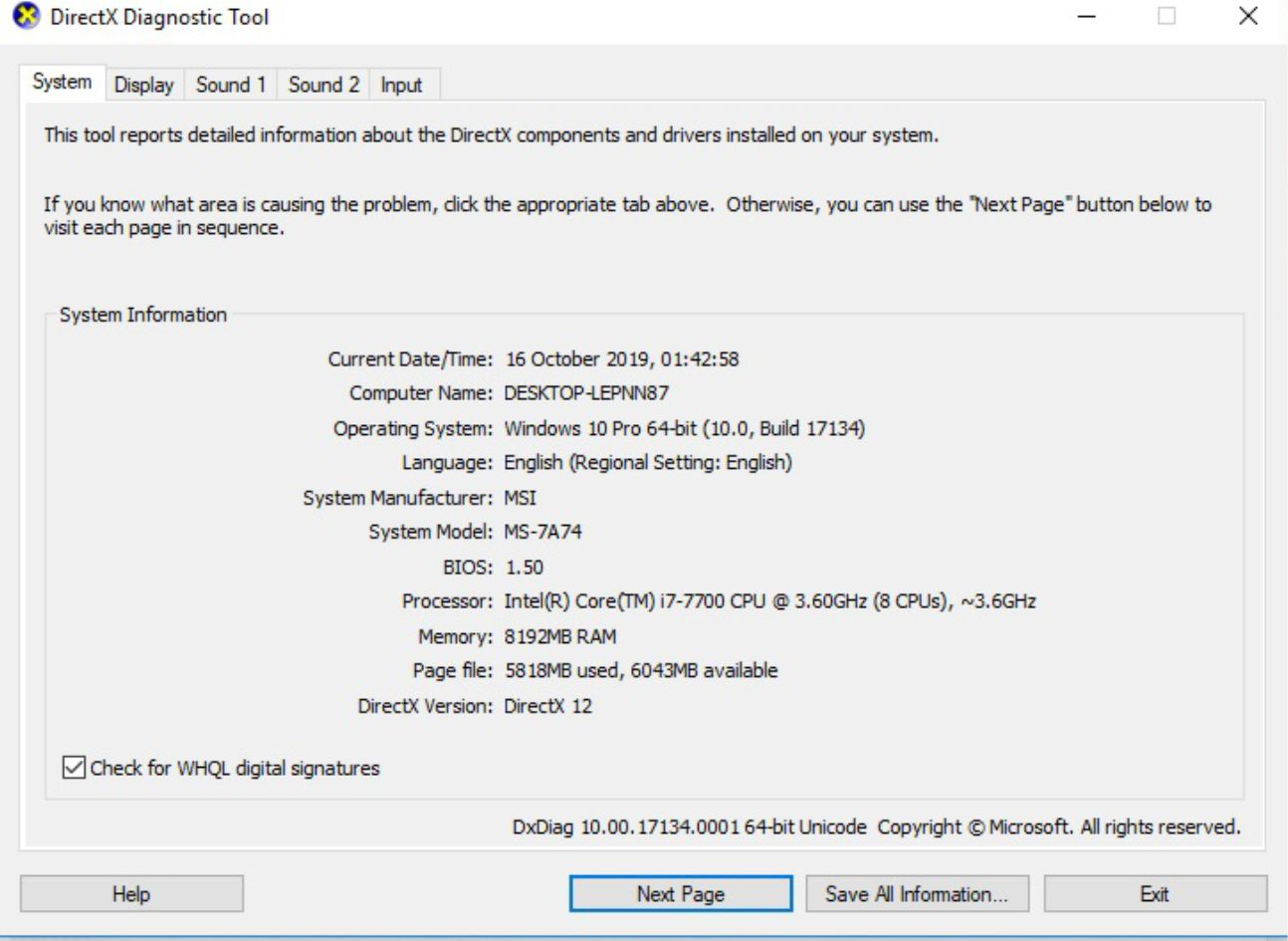 Contoh Detail Spesifikasi Komputer Windows 10