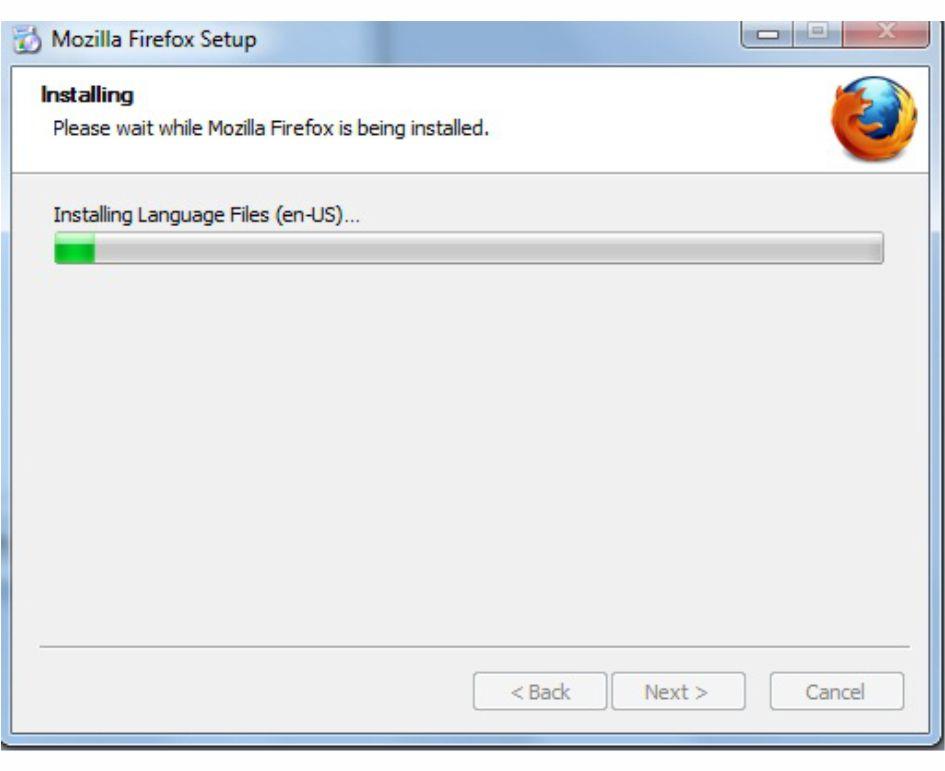Proses Download Untuk Instal Mozila