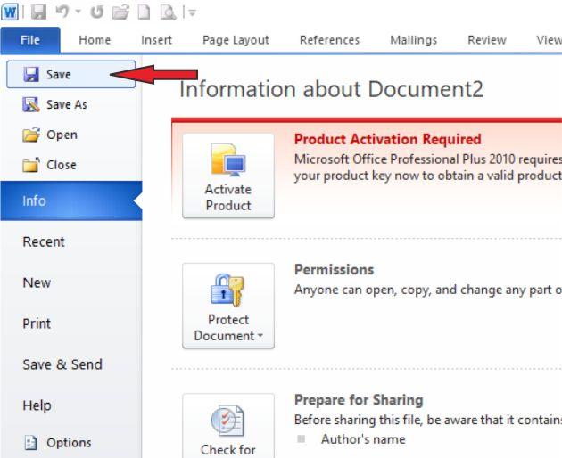 Cara Menyimpan Dokumen Baru di Microsoft Word 2010 Untuk Pemula