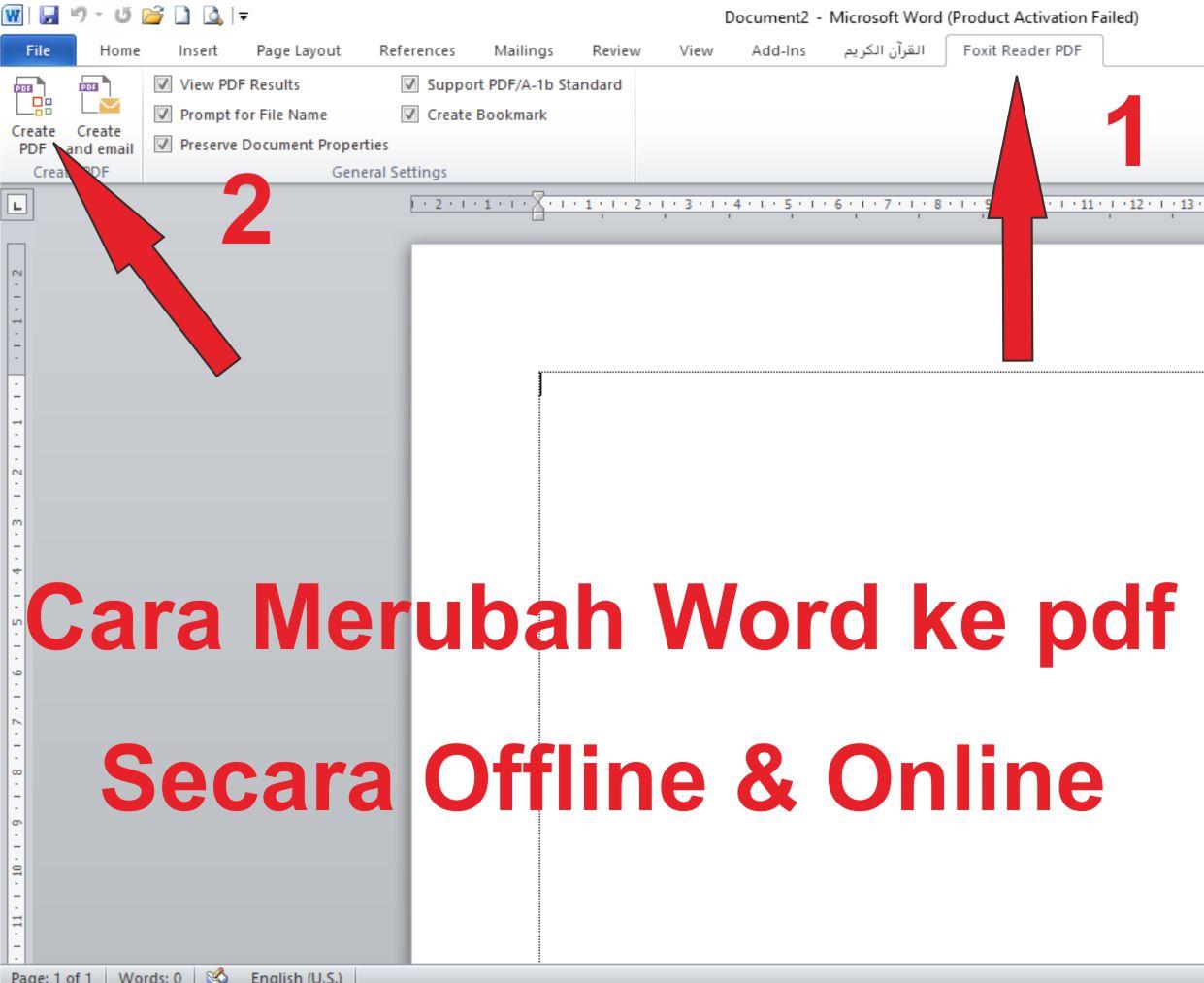 Cara Merubah Word ke pdf Secara Offline dan Online terbaru