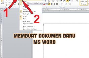 Langkah Membuat Dokumen Baru Pada Ms Word Untuk Pemula