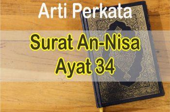 Arti Perkata Surat An-Nisa Ayat 34